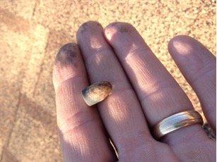 bullet in hand